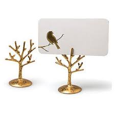 gold tree branch place card holders wedding place card hol