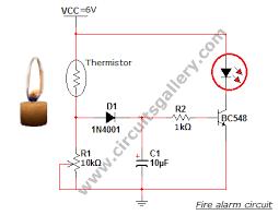 simple fire alarm thermistor circuit diagram circuits gallery