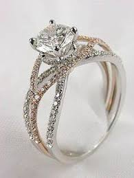 silver and gold engagement rings and gold wedding rings