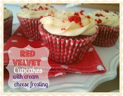 red velvet cupcakes with swirled cream cheese frosting