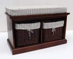 Wicker Storage Bench Wood Wicker Storage Bench U2013 Home Design Ideas