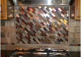 Kitchen Backsplashglass Tile And Slate by Slate And Glass Tile Backsplash Inviting Bronze Aluminum Multi