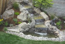 backyard rock waterfall ideas backyard and yard design for village