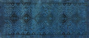 Overdyed Runner Rug 4 X9 Runner Overdyed Knotted Blue Wool Area Rug W222