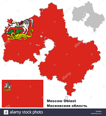 Blank Map Of Russia by Outline Map Of Moscow Oblast With Flag Regions Of Russia Vector