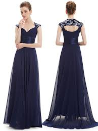 chiffon cap sleeves navy empire line dresses for wedding guest