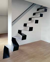 Stairway Wall Ideas by Interior Top Notch Modern Zigzag Cool Staircase Including All
