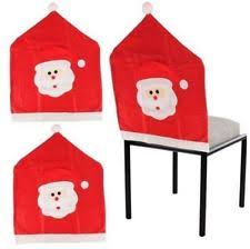 Santa Chair Covers Christmas Table Chair Covers Ebay