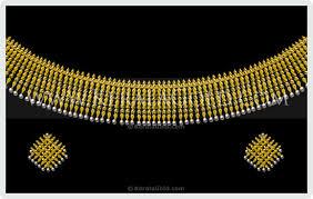 kerala gold jewellery design necklace 6