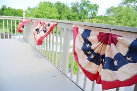 Pretty Bunting Flags Simple Patriotic Reversible Pennant Bunting