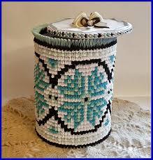 3d origami paper vase storage box with ukrainian patterns