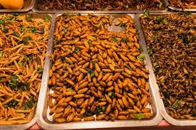 lea cuisine fried bugs at market in bugs fried in banana lea