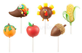thanksgiving cake pops stock image image of pumpkin 33725901