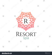 abstract luxury modern ornament resort spa stock vector 366271799