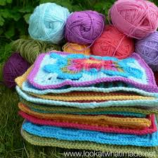 how to join crochet squares completely flat zipper method block a week cal 2014 crochet along 300x300 how to join crochet