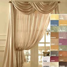 45 l sheer curtains scarf valances and curtain panels overstock