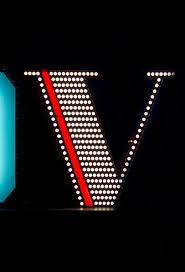 v graphic neon letter lamps delightfull