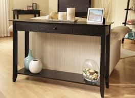 black sofa table with drawers furniture black console table with drawers smoke black mirror one