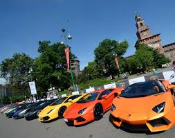 rainbow lamborghini lamborghini grand tour kicks off in milan photos rainbow of