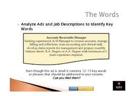 Accounts Receivable Job Description Resume by Redacta Tu Cv En Inglés