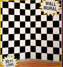 30ft black white checkered nascar racing mural 50 s scene setter 30ft black white checkered nascar racing mural 50 s scene setter photo backdrop ebay