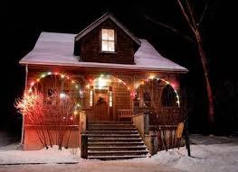 christmas lights on house stock photos royalty free christmas