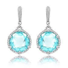 judith ripka earrings judith ripka sky blue earrings with micro pave white