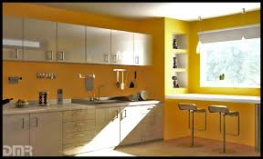 Yellow Bar Table Kitchen Design Yellow Paint Color For Kitchen With White Cabinet