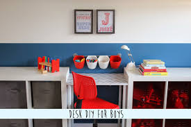 Diy Childrens Desk by Diy Boys Desk Area Oh My Creative