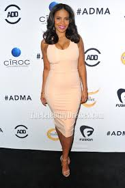 sanaa lathan scoop party dress red carpet cocktail dresses all def