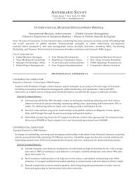resume objective statement for business management international business resume objective 17 pic profile personal