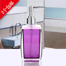 online cheap 250ml acrylic soap dispenser plastic hand soap bottle
