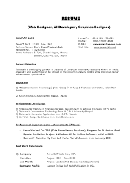 Student Resume Format Doc Resume Format For Mca Freshers Free Download
