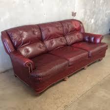 Leather Tufted Sofa by Vintage Ox Blood Leather Tufted Sofa U2013 Urbanamericana