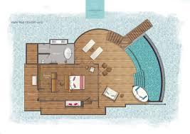 villa plan maldives water villa with pool water accommodation at milaidhoo