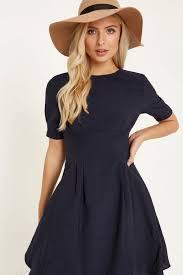 little mistress navy fit and flare midi dress little mistress