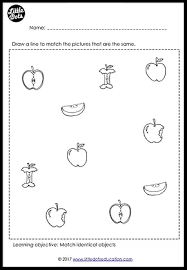 preschool fruits theme matching worksheets and activities little