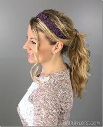 headband ponytail 7 ways to wear a headband hair by lori