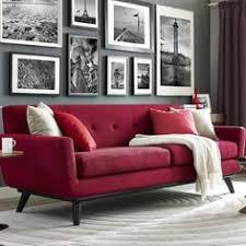 Living Room Red Sofa Nyc Diana Mui Interior Design West Elm Box - Red sofa design ideas