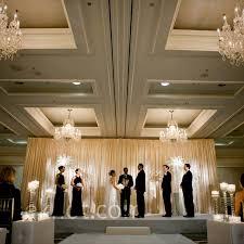 wedding backdrop modern hotel wedding ceremony