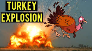 turkey explosion being thankful on thanksgiving