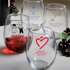 50th birthday favors 50 birthday party favors stemless wine glass