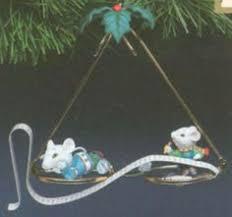 vtg 1994 enesco treasury of christmas miss merry mouse happy holi