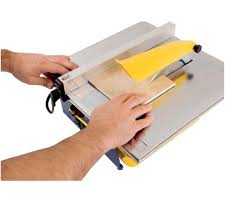 7 in wet ceramic stone tile saw cutter tabletop steel deck w