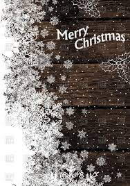 christmas background with snow covered wooden planks vector