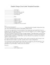 graphic designer cover letter examples cover letter example