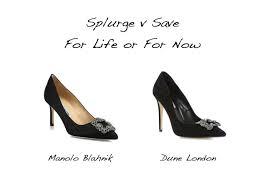 wedding shoes dune splurge versus save manolo blahnik versus dune london style