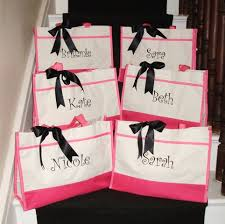 bridesmaids bags 6 personalized bridesmaid gift tote bags personalized tote