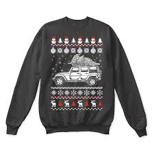 jeep christmas shirt jeep wrangler brings christmas home ugly sweater teeqq
