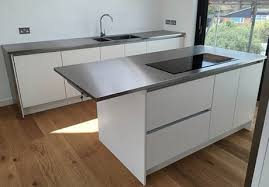 kitchen island worktops gallery of some projects by mpm bespoke stainless steel kitchens